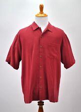 Tommy Bahama Silk Short Sleeve Shirt Mens L Paradise Plunder Treasure on Rocks
