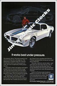 1972 Pontiac Firebird Trans/Am Manufacturer Advertisement Poster-Free US Ship!