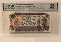 PMG GRADED Canada 1971 $10 Banknote GU66