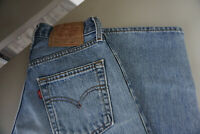 Levis Levi's 555 Herren Men Jeans Hose 27/34 W27 L34 stonewash used Blau  ap17