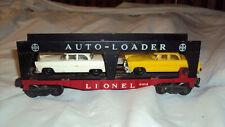 Vintage Lionel Evans Auto-Loader 6414 O scale car w/ 2 cars
