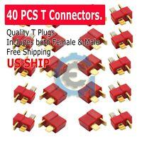 Ultra T-Plug 40 pcs Male/Female Deans Connectors Lipo FAST USA SHIP
