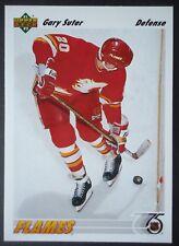NHL 341 Gary Suter Calgary Flames Upper Deck 1991/92
