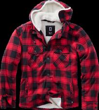 Brandit chaqueta lumberjacket hooded en Red/Black