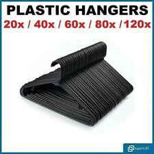 ADULT BLACK COAT HANGERS HANGER COATHANGER STRONG PLASTIC CLOTHES DRESS