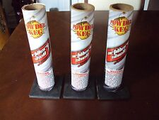 Lot Of 3 Cardboard Artillery Shell Mortar Tubes w/Base Fireworks Pyro powder keg