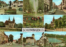 38364 Schöningen  -  Markt - Rathaus - Marktbrunnen - Ev.St.Lorenzkirche  - 1970