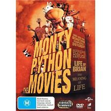 Monty Python The Movies DVD R4 Life of Brian, The Holy Grail, Meaning of Life...