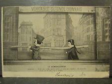 cpa 69 guignol lyonnais le demenagement theatre