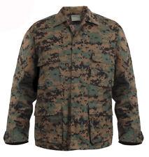 Woodland Digital Camuflaje Bdu Camisa Estilo Militar Abrigo Rothco 8690