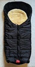 KAISER Fußsack mit Lammfell, schwarz