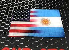 "America USA Argentina Dual Country Domed Decal Distress Sticker 3D 3.25""x2"""