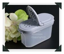 Brand New TUPPERWARE Spice ½ Cup Creamer Sugar Container Spoon/Shaker Gray S&P