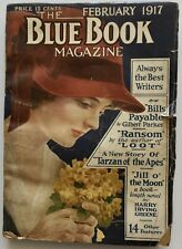 Scarce Antique Feb. 1917 Blue Book Magazine Literary Pulp Tarzan E. R. Burroughs