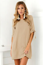 Sexy UK Womens Plus Size Long T-shirt Ladies Casual Party Mini Dress Blouse Tops
