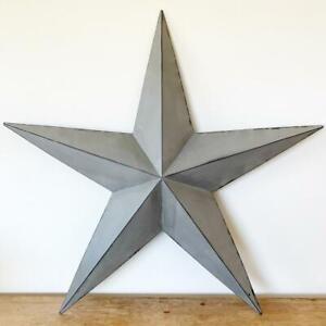 Grey Washed Star *Medium *32cm *Metal *Vintage Barn Star Hanging Wall Decoration