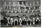 WW1 Photograph - Large group of Scottish Soldiers in uniform