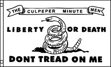 Don't Tread On Me Culpeper Minutemen 1775 5'x3' Flag