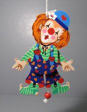 """Mertenskunst """"Clown"""" Pull String Wood Ornament - Fridolin - No. 10 213"""