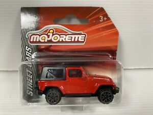 Majorette Jeep Wrangler (Red) Die Cast Model Car