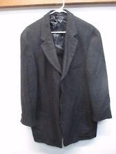 EUC Cavelli Ferla Black 100% Baby Alpaca 3 Button Sport Coat Size 44R
