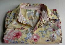 Coldwater Creek Shirt Large 100% Cotton Roses, Floral