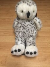 "Build A Bear 15"" Plush Hedwig The Spotted Snow Owl With Rotating Head"