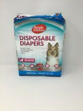 NEW Simple Solution Disposable Female Dog Diapers Super Absorbent Medium 30-Pack
