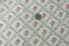 """Antique 19thC French Cotton Doll Scale Peach Rose Fabric~L-25""""X W-18""""~Dolls"""