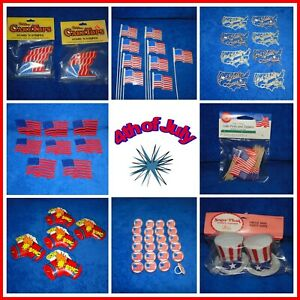 New Vintage 4th of July  DECOR Varieties, Cupcakes, Bento, Party treats