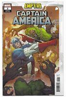 Empyre Captain America #2 2020 Unread 1st Print Luke Ross Variant Marvel Comics