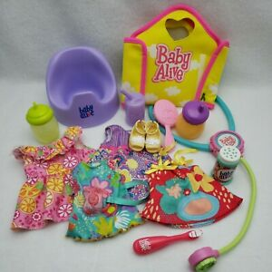 Baby Alive Doll Lot Clothing Accessories Various Sizes Ages Hasbro Outfits Piece