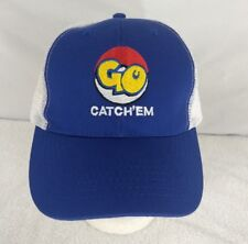 POKEMON GO HAT BASEBALL CAP Trucker Mesh Snap Back Adjustable Blue BRAND NEW