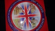 1997 United Kingdom Brilliant Unc 9 Coin Collection.