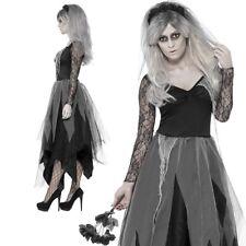 Zombie Graveyard Bride Costume Corpse Ladies Sexy Ghost Widow Fancy Dress