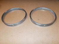 BMW E23 or E28 Headlight Chrome GLASS HOLDING FRAMES - Set of 2 Part 1362046