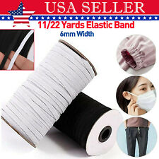 6mm Flat Elastic Band 11-22 Yards Elastic Rope Earloop Ear Tie Sewing Craft Diy