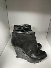 Camilla Skovgaard Black Wedge Ankle Boots Unboxed Size 35