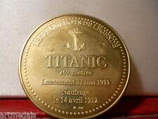 TITANIC FRENCH PARIS MINT COMMEMORATIVE MEDAL 41MM WHITE STAR