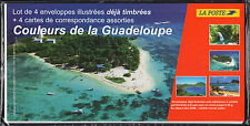 FRANCE FRANCIA 2004 Lot de Enveloppes illustrées Couleurs de la Guadaloupe NEUF
