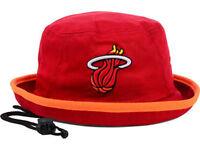Miami Heat New Era NBA Hardwood Classics Red Bucket Hat Cap size Large