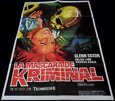 1966 Kriminal ORIGINAL SPAIN POSTER Umberto Lenzi FLASH HERO London Amazing Art