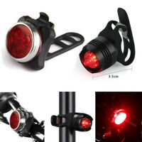 USB Rechargeable LED Bike Light Aluminum Bicycle Lamp Set Front Light Tail Light