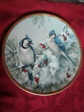 "1993 Winter Song McClung 8"" Plate Lenox Natures Collage Plate Collection"
