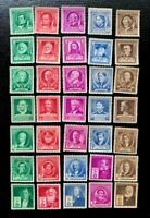 1940 US SC #859-893 Famous American  Issues Complete Set of 35  MNH/OG CV:$33
