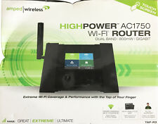 New! Amped Wireless High Power Touch Screen AC1750 Wi-Fi Router (TAP-R3)