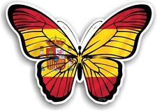 BELLISSIMA Farfalla Design & Paese Spagna Spagnolo Bandiera Vinile Auto Adesivo Decalcomania