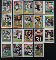 1992 Topps Cleveland Browns Partial Team Set of 19 Football Cards