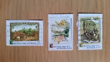 Complete Australia used stamp set: 1982 Christmas series
