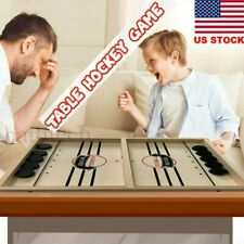 Fast Sling Puck Table Battle 2in1 Ice Hockey BOARD Game TOYS Catapult Chess Gift